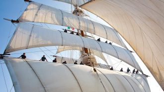 Sea Cloud Fixing the Sails