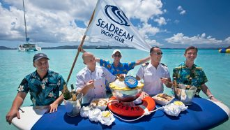 Sea Dream champagne & caviar splash party